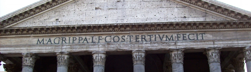 """Marcus Agrippa, son of Lucius, in his third consulate, made this"""